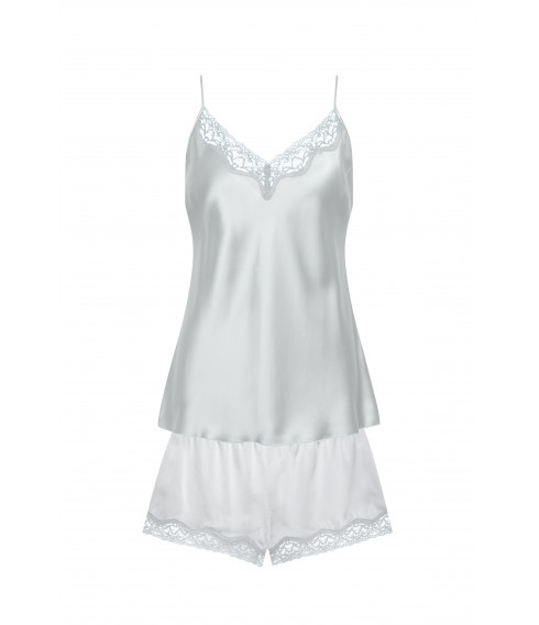 Grey silk camisole and shorts - Cadolle