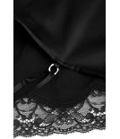 Black silk camisole and shorts - Cadolle