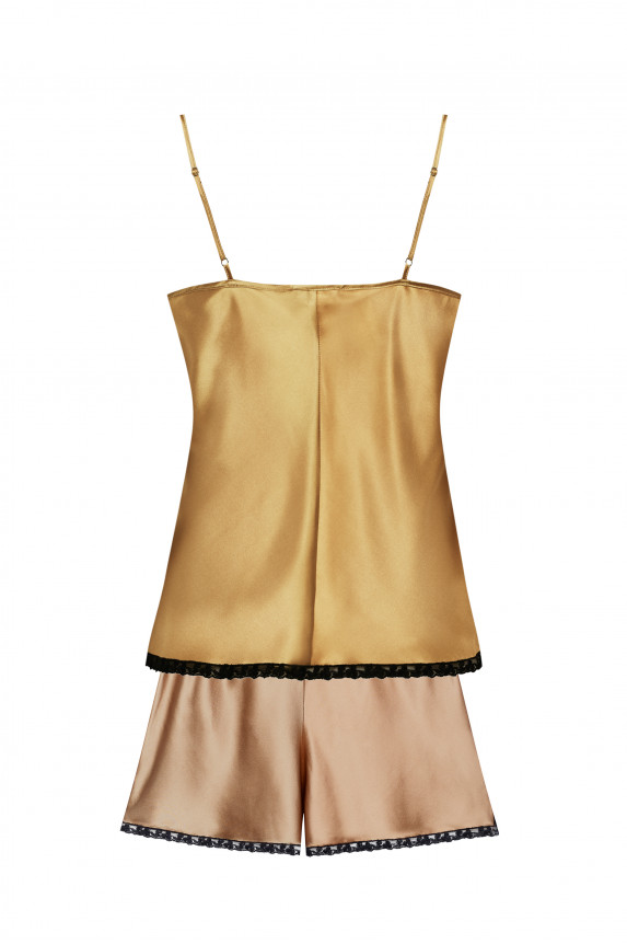 Camel silk camisole and shorts - Cadolle