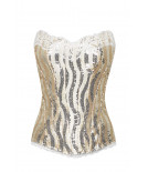 Bustier KELLY golden sequins Cadolle