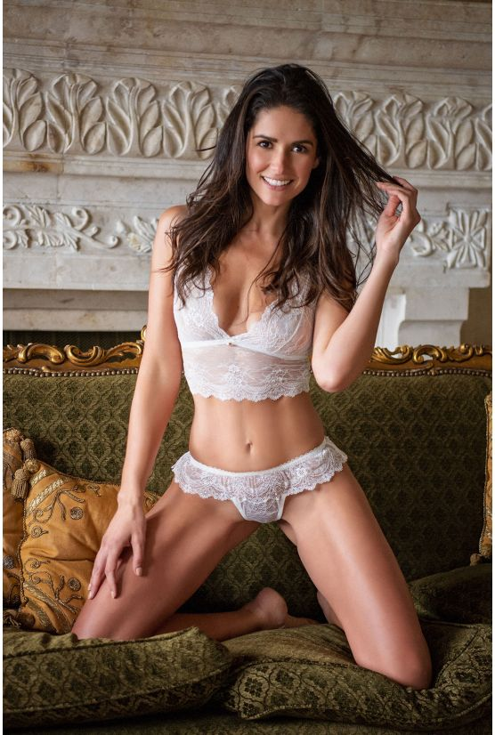 ANIA ivory lace thong - Cadolle