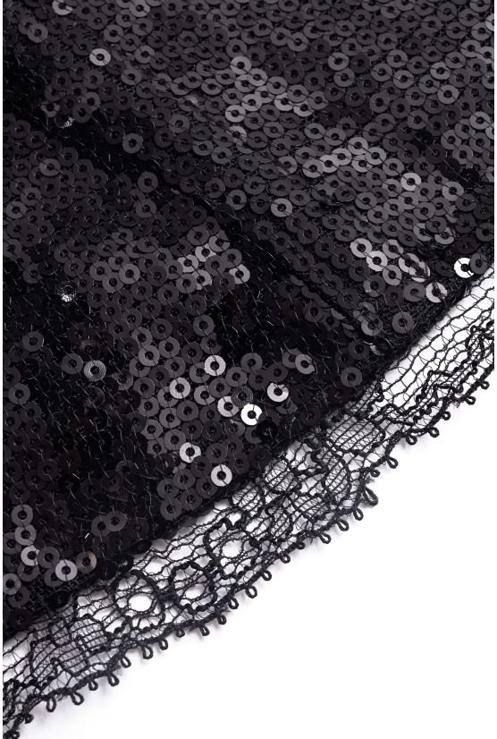Bustier KELLY sequins noirs - Cadolle