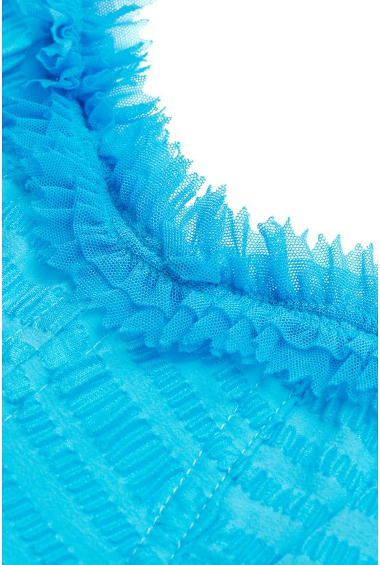 VICTORIA blue embossed bustier - Cadolle