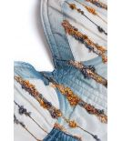 Corset ASTRID blue embroidery