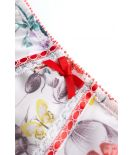 High panties 924 floral tulle