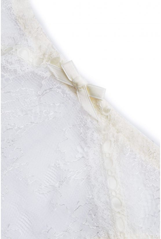 CATHY ivory chantilly thong - Cadolle