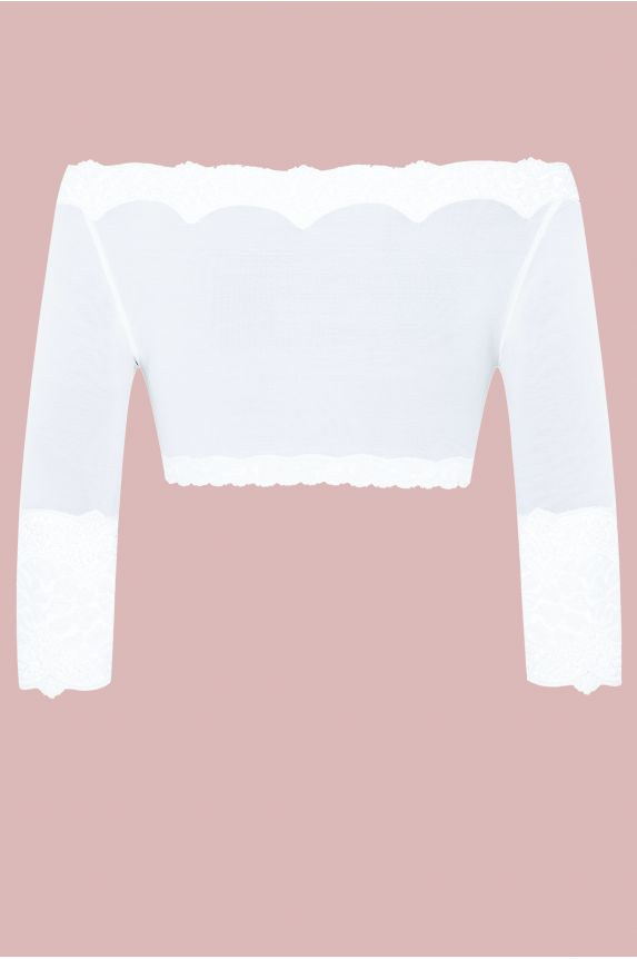 Mini top BYZANCE tulle blanc - Cadolle