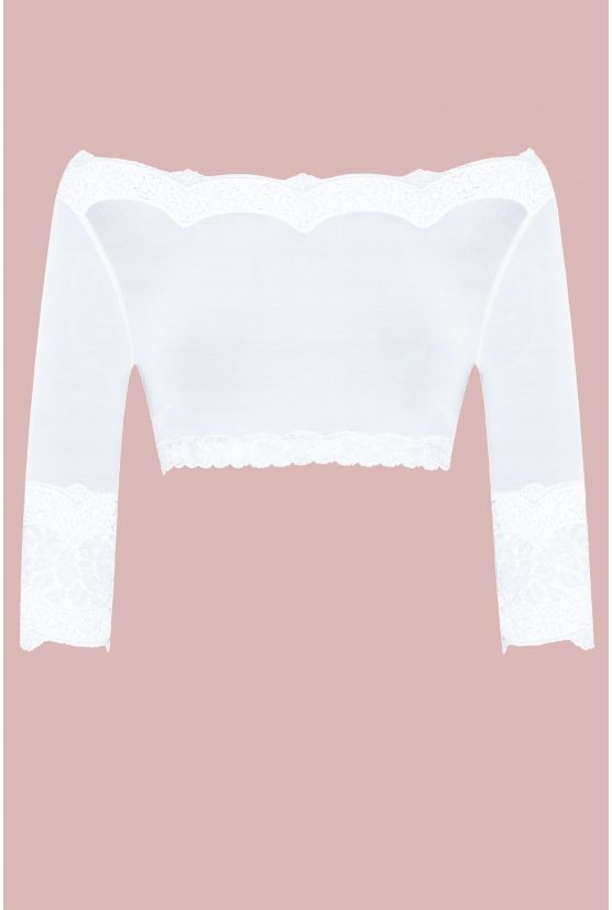 BYZANCE white tulle mini top - Cadolle
