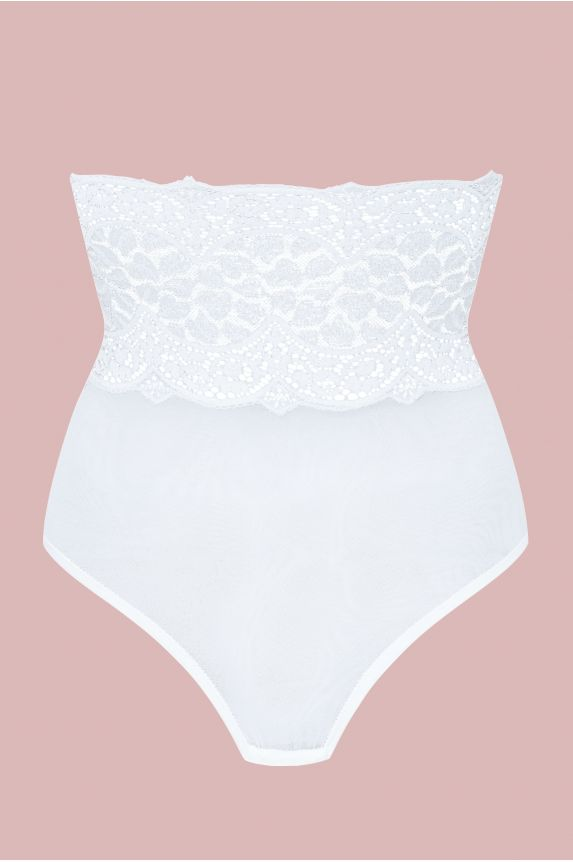Culotte haute BYZANCE tulle blanc - Cadolle