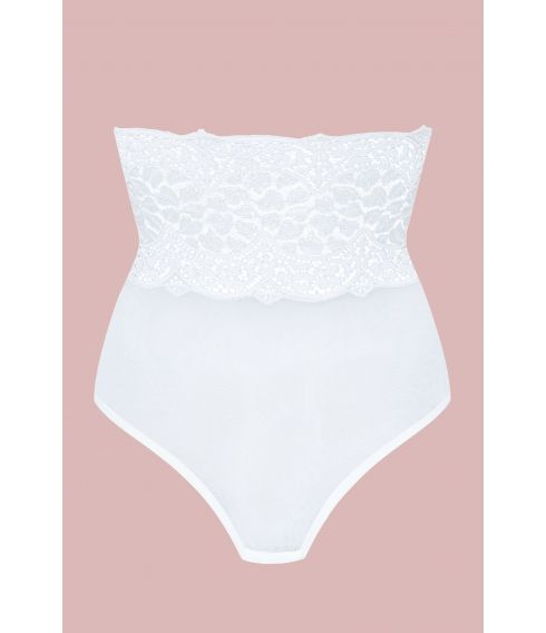 BYZANCE white tulle high panties - Cadolle