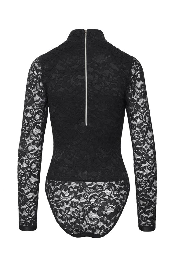 OFFICER black lace body - Cadolle