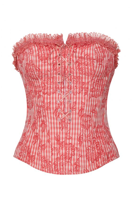 MIKO pink gingham bustier - Cadolle