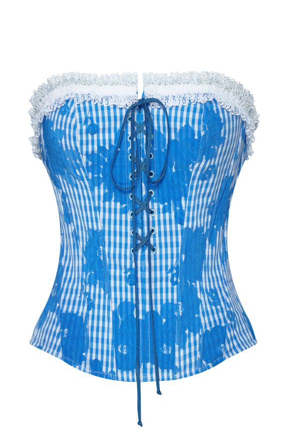 MIKO blue gingham bustier - Cadolle