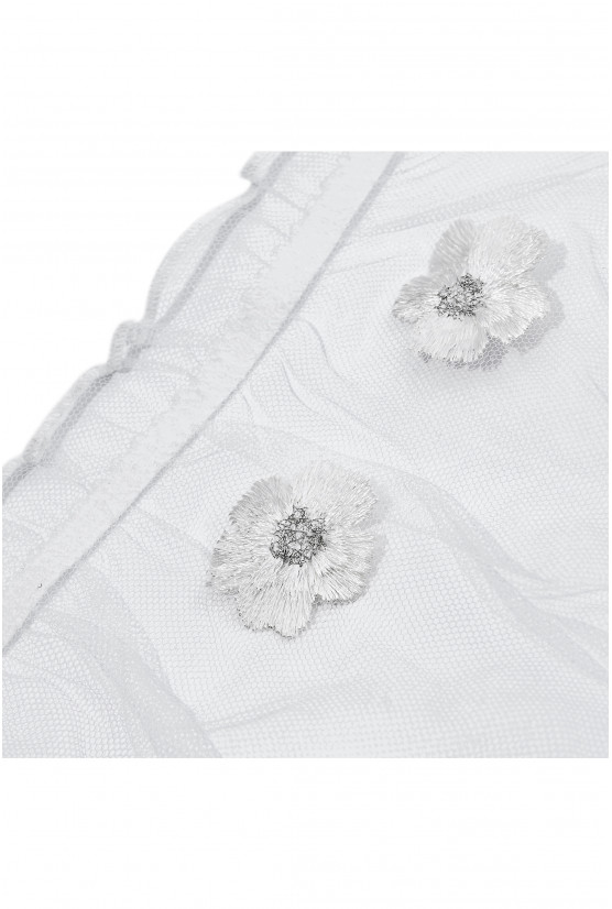 MIMI ivory embroidered tulle panties - Cadolle