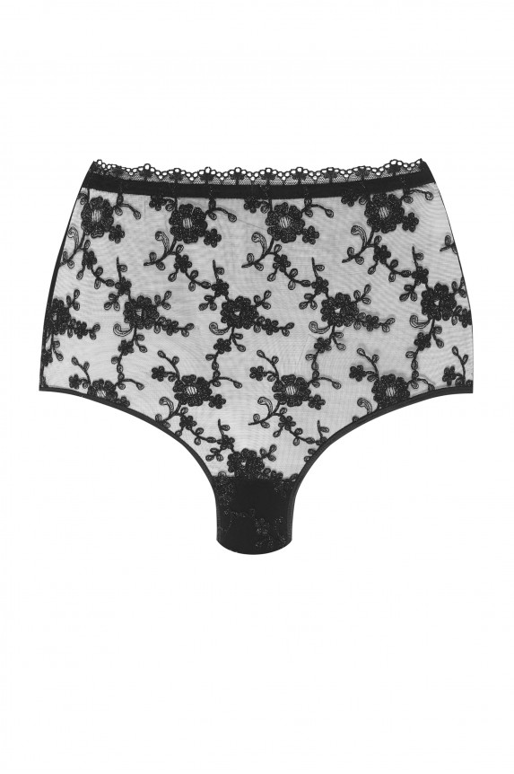 INVISIBLE black Spain high waist panties - Cadolle