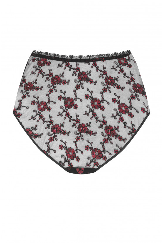 INVISIBLE red Spain high waist panties - Cadolle