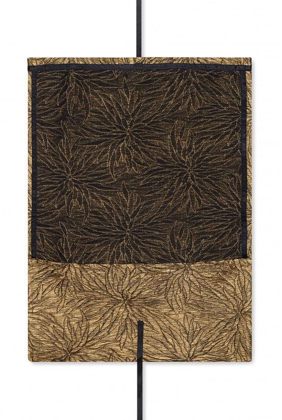 Large golden flowery pattern pouch - Cadolle
