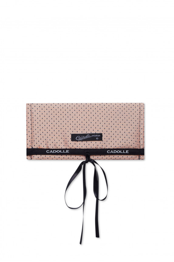 Pink cotton with black dots case - Cadolle